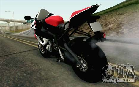 BMW S1000RR HP4 v2 Red for GTA San Andreas left view
