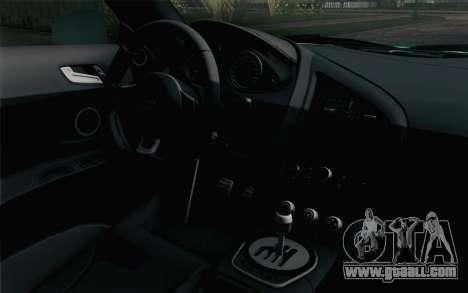 Audi R8 V8 FSI 2014 Dubai Police for GTA San Andreas right view