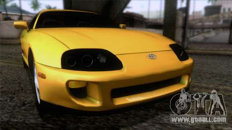 Toyota Supra S-Spec (JZA80) 1993 IVF АПП for GTA San Andreas back view