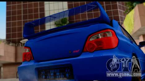 Subaru Impreza WRX STI 2004 for GTA San Andreas right view