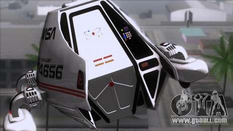 Shuttle v2 Mod 2 for GTA San Andreas back view