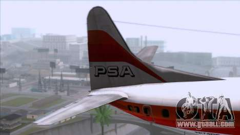 L-188 Electra PSA for GTA San Andreas back left view
