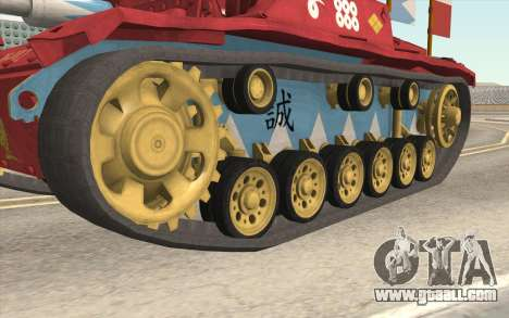 StuG III Ausf. G Girls and Panzer Color Camo for GTA San Andreas back view