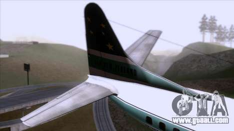 L-188 Electra Air New Zealand for GTA San Andreas back left view