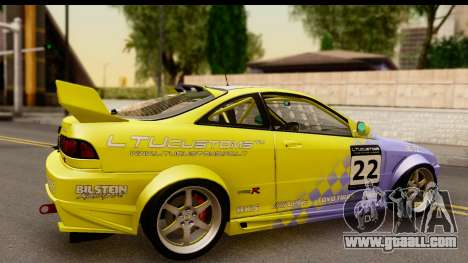 Acura Integra Type R 2001 for GTA San Andreas back view