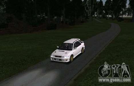 Subaru Impreza Sports Wagon WRX STI for GTA San Andreas back view