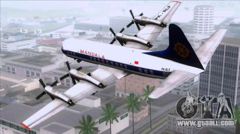 L-188 Electra Mandala Airlines for GTA San Andreas left view