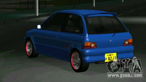 Subaru Vivio RX-R for GTA San Andreas back left view