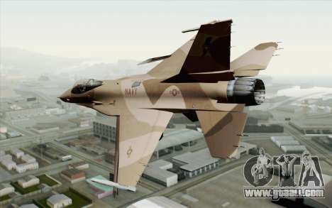 F-16C Fighting Falcon NSAWC Brown for GTA San Andreas left view