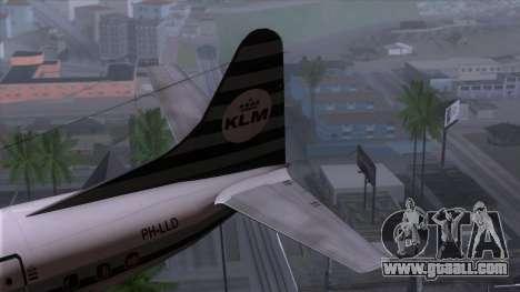 L-188 Electra KLM v2 for GTA San Andreas back left view