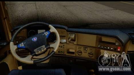 Scania G 4х6 for GTA San Andreas inner view