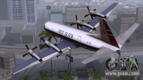 L-188 Electra Fled Olsen for GTA San Andreas left view