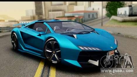 GTA 5 Zentorno Cabrio for GTA San Andreas