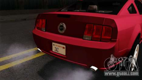 Ford Mustang GT PJ Wheels 2 for GTA San Andreas back view