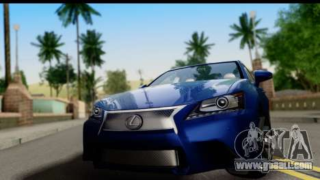 Lexus GS350 for GTA San Andreas back left view