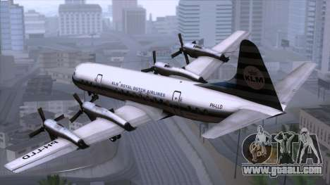 L-188 Electra KLM v2 for GTA San Andreas left view