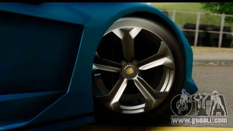 GTA 5 Zentorno Cabrio for GTA San Andreas back view