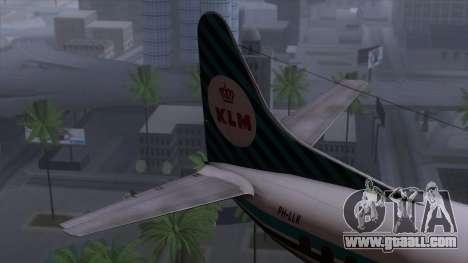 L-188 Electra KLM v1 for GTA San Andreas back left view