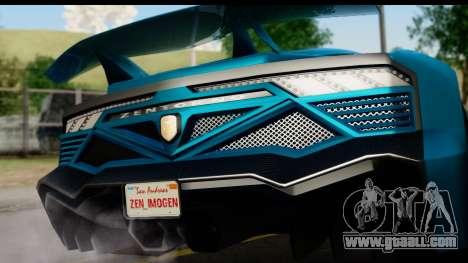GTA 5 Zentorno Cabrio for GTA San Andreas right view