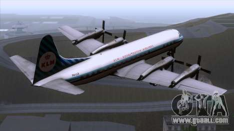 L-188 Electra KLM v1 for GTA San Andreas left view