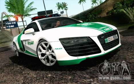 Audi R8 V8 FSI 2014 Dubai Police for GTA San Andreas