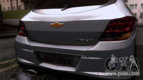 Chevrolet Onix for GTA San Andreas back view