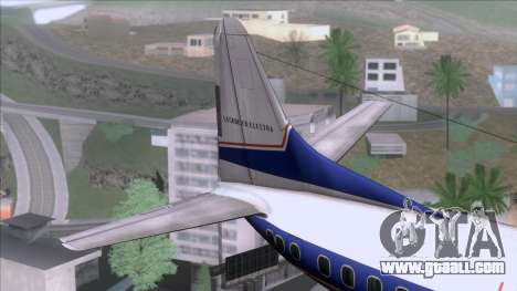 Lockheed L-188 Electra for GTA San Andreas back left view