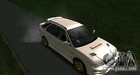 Subaru Impreza Sports Wagon WRX STI for GTA San Andreas back left view