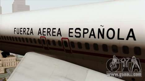 Boeing 707-300 Fuerza Aerea Espanola for GTA San Andreas back view