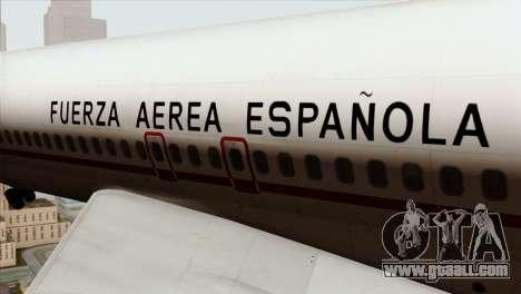 Boeing 707-300 Fuerza Aerea Espanola for GTA San Andreas back view