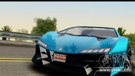 GTA 5 Zentorno Cabrio for GTA San Andreas back left view