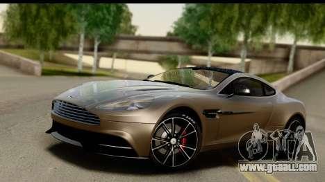Aston Martin Vanquish 2013 Road version for GTA San Andreas