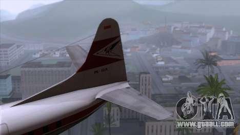 L-188 Electra Garuda Indonesia for GTA San Andreas back left view