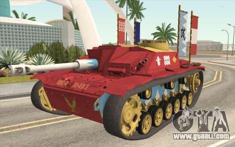 StuG III Ausf. G Girls and Panzer Color Camo for GTA San Andreas