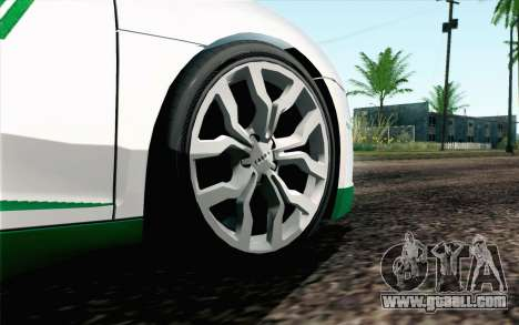 Audi R8 V8 FSI 2014 Dubai Police for GTA San Andreas back left view