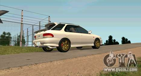 Subaru Impreza Sports Wagon WRX STI for GTA San Andreas left view