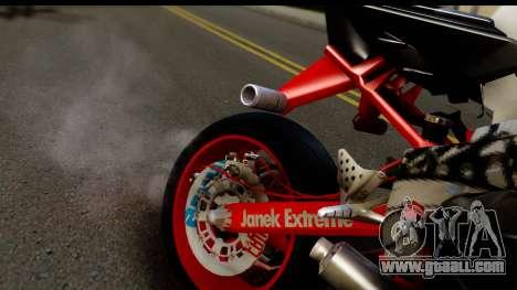 Kawasaki Ninja ZX6R v3.1 Fixed for GTA San Andreas back view