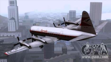 L-188 Electra Garuda Indonesia for GTA San Andreas left view