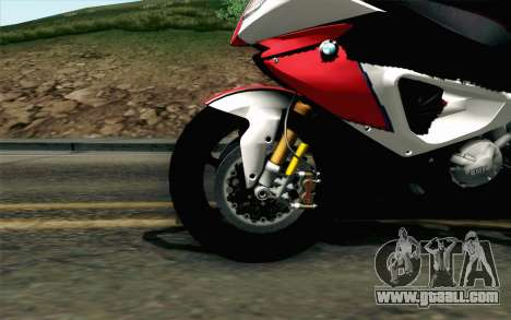 BMW S1000RR HP4 v2 Red for GTA San Andreas back left view