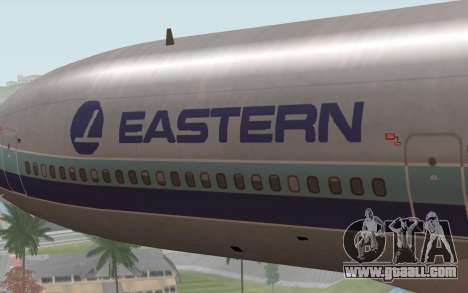 Lookheed L-1011 Eastern Als for GTA San Andreas back view