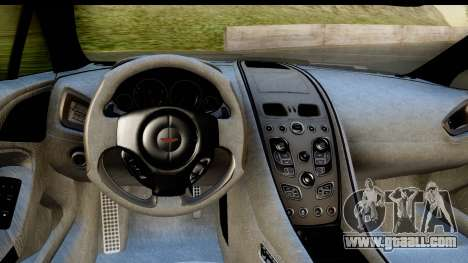 Aston Martin Vanquish 2013 Road version for GTA San Andreas back view
