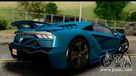 GTA 5 Zentorno Cabrio for GTA San Andreas left view