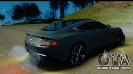 Aston Martin Vanquish 2013 Road version for GTA San Andreas inner view