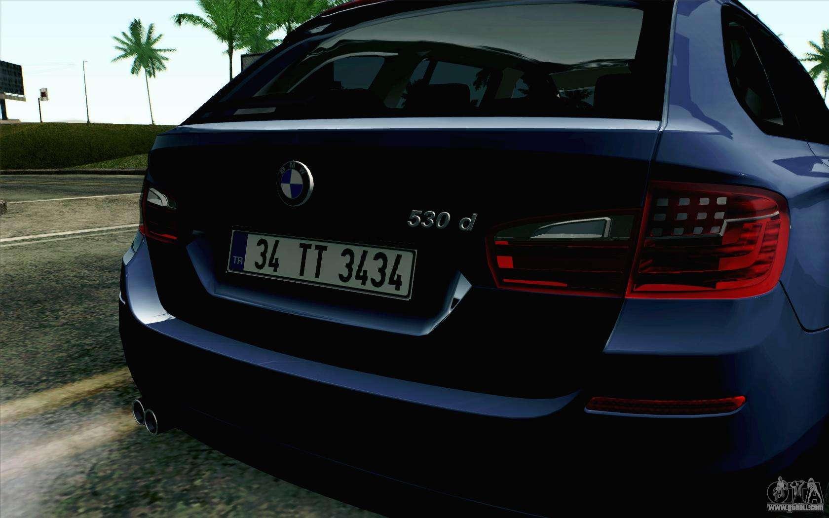 BMW 530d F11 Facelift HQLM for GTA San Andreas