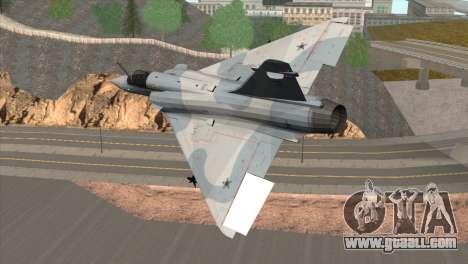 Dassault Mirage 2000 Forca Aerea Brasileira for GTA San Andreas left view