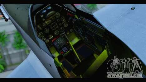P-51 Mustang Mk4 for GTA San Andreas back view