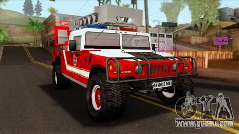 Hummer H1 Fire for GTA San Andreas