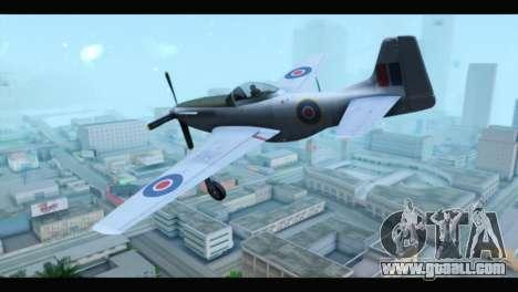 P-51 Mustang Mk4 for GTA San Andreas left view