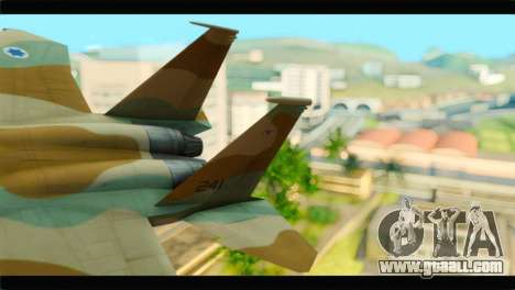 Boeing F-15C IAF for GTA San Andreas back left view
