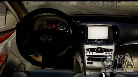 Infiniti JX 35 2013 for GTA San Andreas inner view